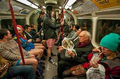 "140112 No Pants 306 (hoffman) Tags: naked undressed undressing prank pranks nopants trousers flashmob action fun joke humour humor travel transport londonunderground tubetrain subway internationalnopantssubwayride londonlegsofthe2013internationalnotrousersunderground leisure play 181112patchingsetforimagerights london uk gbr londonlegsofthe2013internationalnotrousersundergroundride davidhoffman davidhoffmanphotolibrary socialissues reportage stockphotos""stock photostock photography"" stockphotographs""documentarywwwhoffmanphotoscom copyright"