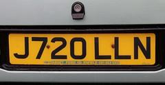 J720 LLN (2) (Nivek.Old.Gold) Tags: 1991 ford sierra sapphire ghia auto 1998cc 20i target enfield eama dealerplate