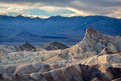 Zabriskie Evening (Kirk Lougheed) Tags: california deathvalley deathvalleynationalpark manly manlybeacon panamintmountains usa unitedstates zabriskie zabriskiepoint badlands beacon landscape mountain nationalpark outdoor park sidelight
