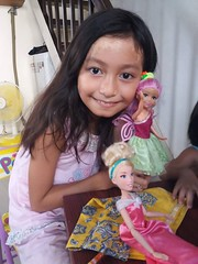 playing with dolls (ghostgirl_Annver) Tags: asia asian girl annver teen preteen child kid daughter sister family portrait doll barbie dresses