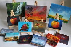 A few mini for the PAOS Affordable Art Fair. Colonel Dane Memorial Hall Saturday 1st December, everything £50 and under #PAOSAAF18 #art #artist #minicanvas #paintings #acrylics #landscapes #fruits #stilllife #goodies #christmaspresents #instagramartist #i (Tony Nero) Tags: artoftonynero tony nero art peterorough cambridgeshire creative out about craft paintings