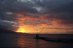 Sunrise - Ponta Delgada (Toats Master) Tags: azores portugal pontadelgada sunrise morning sky clouds water ocean blue sea port