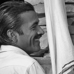 varanasi portrait (gerben more) Tags: varanasi people portrait portret benares smile smiling man handsomeman
