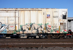 Ich (quiet-silence) Tags: graffiti graff freight fr8 train railroad railcar art ich ichabod yme circlet armn reefer unionpacific armn762206