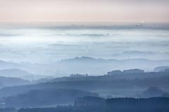 Misty Hills (Aerial Photography) Tags: by m obb 03112014 5d387636 abend abendlicht abendstimmung bavaria bayern blau deutschland dunst farbe fotoklausleidorfwwwleidorfde fotoklausleidorfwwwleidorfaerialcom germany hügelland landscapeandnature landschaft landschaftnatur luftaufnahme luftbild munich münchen p1 panorama region rosa stimmung aerial blue color colour downs eveninglight eveningmood haze hillland hillycountry landscape landscapenature mist mood nature outdoor sunset oberbayern bayernbavaria deutschlandgermany deu