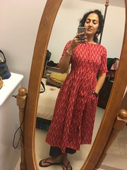in my new dress that Shahpar gave me (from India) (olive witch) Tags: 2018 abeerhoque bangladesh bd day dec18 december dhaka indoors me mirror reflection