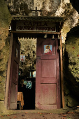 The Sacred Cave (Derbyshire Harrier) Tags: cave romania piatracraiulinationalpark 2018 shrine door limestone karst transylvania barsavalley sacredcave coltulchililor religious naturetrek longexposure jurassic