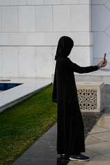 Selfie at Sheikh Zayed Grand Mosque