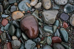 High Five (Karen_Chappell) Tags: rock reflection selfie pebble stone beach nfld newfoundland middlecove middlecovebeach avalonpeninsula atlanticcanada canada canonef24105mmf4lisusm macro grey blue burgandy multicoloured colourful colours colour nature outdoors rocks