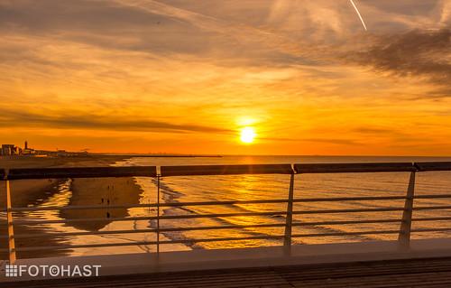 Zonsondergang vanaf de Pier