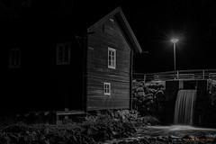 Little fall b/w (MIKAEL82KARLSSON) Tags: svartvit svartvitt bw vatten water vattenfall old sverige sweden dalarna natt nattfoto night nightshot bro bridge samyang 50mm sony a7ll mikael82karlsson