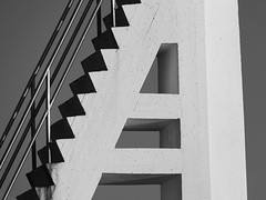 Part of a diving tower (askomsoy) Tags: stairs monocrom