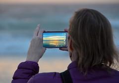 A sunset photo (afagen) Tags: california pacificgrove asilomarstatebeach montereypeninsula asilomar beach pacificocean ocean sunset dusk photography phone samsung smartphone