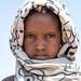Portrait of a somali girl with a scarf on the head, Afar Region, Gewane, Ethiopia
