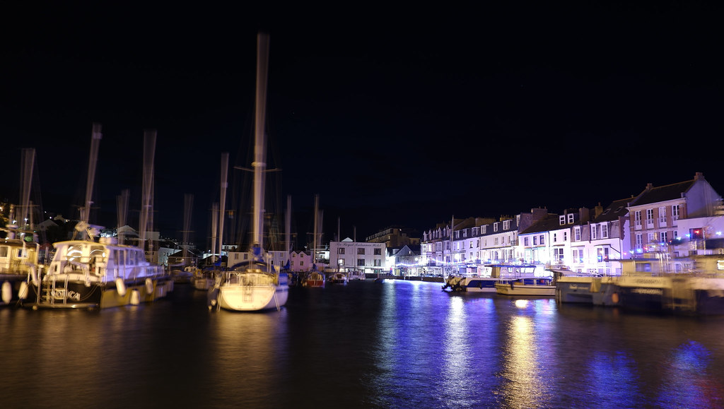 Ilfracombe Harbour By Night