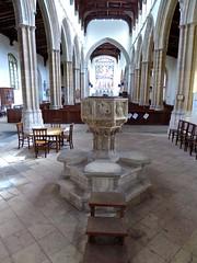 Stoke by Nayland - St Mary's (Glass Angel) Tags: font stokebynayland stmaryschurch suffolk uk england