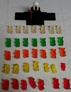 Army of gummy bears! 😈 (The Quiet One Harumi) Tags: lego ninjago thequietone harumi evil thejadeprincess gummybears candy army part1 couldntfindalatinversionforthetitle