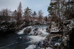 Cassley Falls (rattigan_tim) Tags: forest winter trees ice scotland waterfall water movement bridge nature walking wild uk lairg cassley falls cassleyfalls