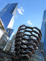 Visiting The Vessel Sculpture at Hudson Yards 4152 (Brechtbug) Tags: 2019 march visiting the vessel sculpture hudson yards tower near 34th street midtown manhattan new york city nyc 03172019 west side construction center cityscape architecture urban landscape scape view cityview shadow silhouette december close up skyline skyscraper railroad rail yard train amtrak tracks below grown stair stairs buildings above staircase dingus nypd mini squad cars tiny
