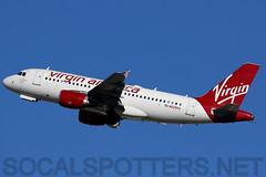 N529VA (SoCalSpotters) Tags: n529va vrd asa virginamerica alaskaairlines klax a319 airbus socalspotters losangeles