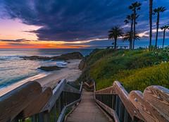 Laguna Beach (meeyak) Tags: montageresort lagunabeach rainstorm storm beach ocean sunset dark moody clouds sky path stairs view landscape seascape mikemarshall sony a7r2 zeiss batis 18mm california usa paradise travel vacation outdoors