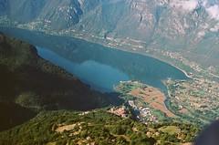 60970021 (sarahhusein) Tags: from above aerial paragliding 35mm film analog italy ponte caffaro village