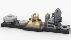 Lego Star Wars - Coruscant Skyline (MOC) (dayman1776) Tags: star wars prequels film films phantom menace attack clones revenge sith george lucas lego legos moc own creation city architecture prequel jedi temple senate building buildings creative bricklink studio underworld
