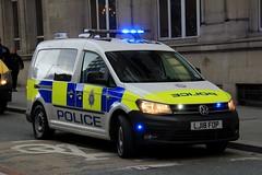 British Transport Police Volkswagen Caddy Dog Section Van (PFB-999) Tags: british transport police btp volkswagen vw caddy dog section van vehicle unit wagon k9 lightbar grilles fendoffs leds lj18fop liverpool edl demonstration