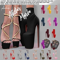 "Phedora. for The Arcade Gacha Events - ""Alistar & Marla"" Gacha set (Celena Galli ~ phedora.) Tags: sl secondlife second life phedora 3d mesh shoes brand heels platforms shoewear womenswear pumps woman women sexy sassy stylish classy cute chic kinky kawaii fashion event monthly events original content 100mesh new release newrelease meshbody hud multihud maitreya lara belleza isis freya venus slink hourglass physique shopping shopaholic shappaholic straps ankle booties sportswear streetwear cuffs ankleboots urban funky heel strappy style strappyheels avatar female femaleavatar femaleavi footwear arcade gacha thearcadegacha arcadegacha"