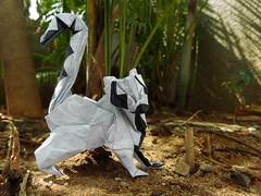 Ring tailed Lemur (Rohit KO) Tags: origami ring tailed lemur rohit ko double thai unryu roman diaz papercraft paper