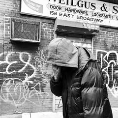 Irving (ShelSerkin) Tags: shotoniphonex shotoniphone hipstamatic iphone iphoneography squareformat mobilephotography streetphotography candid portrait street nyc newyorkcity gothamist blackandwhite