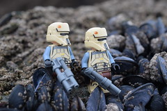 Shoretroopers: - On the Rocks. (Working hard for high quality.) Tags: lego star wars shoretoopers galactic empire toy figures