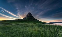 Kirkjufell (Jón Óskar.) Tags: kirkjufell sunset mountains grundarfjörður snæfellsnes iceland jónóskar