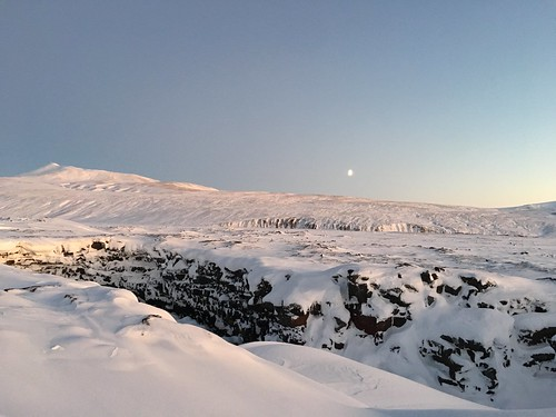 Sunset at Víðgelmir