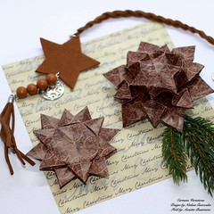 Carmens Variations (AnkaAlex) Tags: origami paperfolding origamidecoration origamistar origamiart paperfoldingart origamist hexagon christmas christmasdecoration