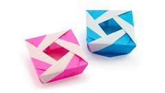 Origami Lady Box Tutorial (Jośe Meeusen) - Paper Kawaii (paperkawaii) Tags: origami instructions paperkawaii papercraft diy how video youtube tutorial