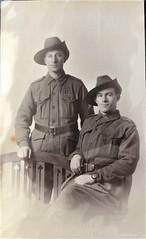 Australian soldiers Jack Davies and Les - 21 March 1917 (Aussie~mobs) Tags: jackdavies les 1917 soldier ww1 australia army military vintage portrait friends lestweforget anzac