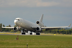 N543JN Western Global McDonnell MD-11 EGCN 26/9/18 (David K- IOM Pics) Tags: n543jn md1f md11 mcdonnell douglas md11f western global doncaster finningley airport dsa robin hood egcn