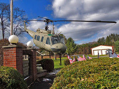 Bell UH-1 Iroquois (George Neat) Tags: stoystown somerset bell uh1 iroquois huey helicopter tank m60 american flag oldglory patriotism veterans memorial vehicles military pa pennsylvania clouds scenic landscapes georgeneat patriotportraits neatroadtrips laurelhighlands