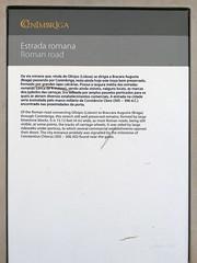 Yacimiento. Entrada (Conimbriga, Portugal) (Juan Alcor) Tags: yacimiento entrada conimbriga portugal placa estrada ruinas romanas romano
