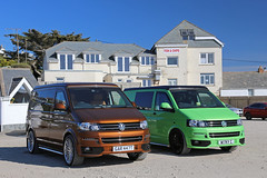 VWts, Sun, Surf & Fish & Chips (<p&p>photo) Tags: vans vdub vw volkswagentransporter volkswagen transporter volkswagentransporters vwt vwts auto german germany car camper surf surfing coast cornwall northcornwall sky skies blue bluesky summer green bronze 2010 t5 raceline edition t5racelineedition vwtransporter racelineedition