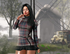 deep breath (UGLLYDUCKLING Resident) Tags: secondlife sl avatar avi girl brunette scenery hair wind windmill breath car virtual world blogger ugllyduckling fashion style ootd dress letre genus lyrium aurealis seniha opale maitreya