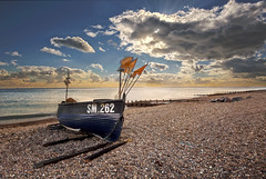 262 Beached (Through Bri`s Lens) Tags: sussex worthing beach boat fishingboat fishingnet pebbles shingle sky skies brianspicer canon5dmk3 canon1635f4