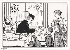 Family in a dining room by Julie de Graag (1877-1924). Original from The Rijksmuseum. Digitally enhanced by rawpixel (Free Public Domain Illustrations by rawpixel) Tags: antique artwork character children daughter dining diningroom diningtable drawing eat family father feeding food group handdrawn home house illustrated illustration juliedegraag kids mother old pdrijks people publicdomain rijksmuseum sharing sketch son table together vintage woodcut