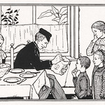 Family in a dining room by Julie de Graag (1877-1924). Original from The Rijksmuseum. Digitally enhanced by rawpixel thumbnail