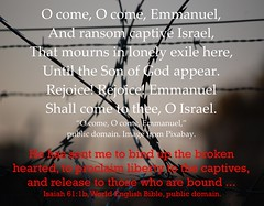 O come, O come, Emmanuel (Martin LaBar (going on hiatus)) Tags: ocomeocomeemmanuel song advent christmas freedom captives prisoners freeing redeeming redemption fence barbedwire ransom isaiah isaiah61 mourning prison refugees