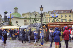 2018 CHRISTMAS MARKET (Cat Girl 007) Tags: ancient architecture buildings celebration christmas christmasdecorations city cityscape cracow crowd decorations europe exterior famous historic historical horizontal krakow landmark mainmarketsquare market medieval old oldtown people poland square tourism tower travel urban view winter