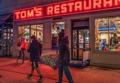 Bringing Home the Tree - Explore # 102  December 20, 2018 (Jeffrey Friedkin) Tags: jeffreyfriedkinphotography cityscene manhattan newyork nyc newyorkscene streetscene seinfeld neon christmas
