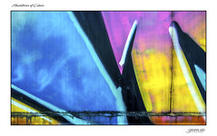 Maelstrom of Colors (Danial Thiessen) Tags: seven six photography abstract colors colorful train traincar spraypaint paint painted vandal vandalism blue pink yellow black white rust metal steel sony rx10iii rx10m3 cybershot art artistic beauty beautiful