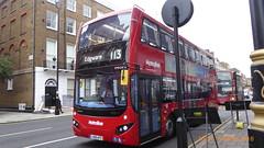 P1140333 VMH2438 LK18 AFO at Gloucester Place Marylebone London (LJ61 GXN (was LK60 HPJ)) Tags: metroline volvob5lhybrid mcv evoseti mcvevoseti 105m 10490mm vmh2438 lk18afo nb889